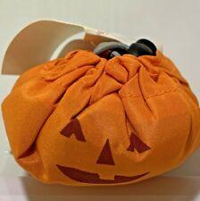 Three Reusable Halloween Pumpkin Tote Shopping Bags