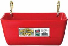 Little Giant Ff11red 45 Quart Heavy Duty Feed Trough Bucket Fence Feeder Red