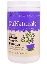 NEW NUNATURALS NUSTEVIA WHITE POWDER SWEETENERS HERBAL 0 SUGAR & CALORIES DAILY