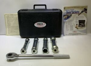 """Wheeler-Rex 961 Heavy Duty SAE 1/2"""" Alloy Steel Deep Socket & Hex Nut Set w/Case"""