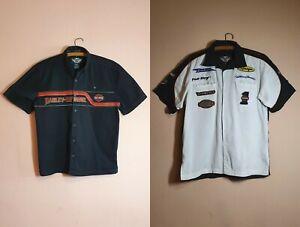 LOT 2 Harley Davidson Short Sleeve Shirt Cotton Biker Motor Clothes | Size M & S