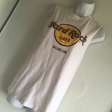 HARD ROCK CAFE Dublin T-Shirt Vest TOP Ladies Women Vintage  TSHIRT