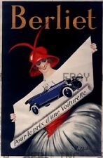 1920s Berliet French automobile poster print advert ca 8 x 10 print prent poster