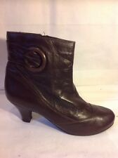 Good For The Sole Collection Brown Ankle Leather Boots Size 7