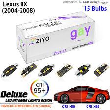 LED Light Bulbs Interior Light Kit Xenon White Dome Light for 2004-2008 Lexus RX