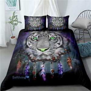 Dreamcatcher Tiger Single/Double/Queen/King Bed Quilt/Doona/Duvet Cover Set