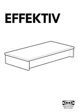 1 IKEA Effektiv Plinth Grounding Weight / Anchor Stabilizer Support Metal Black
