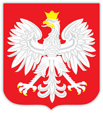 Polska Poland Polonia stemma coat of arms etichetta sticker 11cm x 12cm
