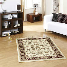 LARGE CLASSIC TRADITIONAL RED BEIGE PATTERN RUG 120x170