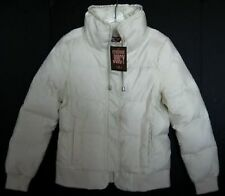 """Juicy Couture Womens Ivory """"Dial"""" Down Peplum Puffy Jacket #JGS00348 (M) NWT"""