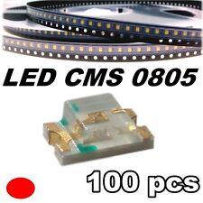 149/100# LED rouge CMS 0805 100 pcs -- SMD red