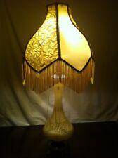 Vintage Lamp Desk Light Floral Marble Table Glass Table Study Decor