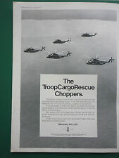 8/1971 PUB SIKORSKY AIRCRAFT CH-53 HELICOPTER MARINES TROOP CARGO RESCUE AD