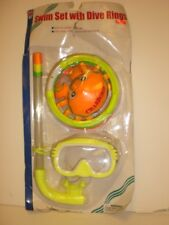 Yellow Swim Set With Dive Rings Inc Swim Mask+Snorkle Imperfect package
