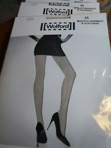 3 Pairs Wolford Shadow 20 Tights Trianon silver, M, Slight 2nd