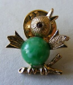Vintage Sarah Coventry Green Jelly Belly Baby Bird Lapel Pin