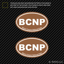 Pair of Bryce Canyon National Park Brown Oval Sticker Decal Euro BCNP