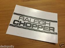 RALEIGH CHOPPER MK 1 SEAT PLATE DECAL - WHITE - CHOPPER SEAT STICKER
