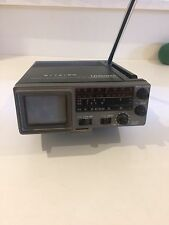 "Vintage Unisonic Portable TV with AM/FM Model XL-990 2"" Micro TV VG Condition"