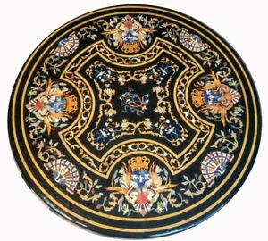 "36"" marble sofa center Table Top pietra dura handicraft Floral art Inlay work"