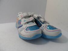 Disney Girl's (Baby/Toddler) Frozen Elsa And Anna Velcro Shoes White Size 9Y