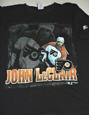 JOHN LeCLAIR #10 Philadelphia Flyers t shirt medium Starter photo print vintage