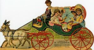 Vintage Die Cut Victorian Trade Card Boot & Shoes Carriage 2012 3rd Ave New York