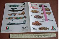 1975 Vintage RIKO Italaerei Plastic Kit Catalogue Bologna Italy.