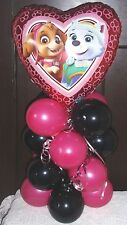 FOIL BALLOON TABLE DECORATION DISPLAY  AIRFILL NO HELIUM - PAW PATROL SKYE HEART