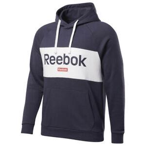 Reebok Men`s Big Logo OTH Hoodie Navy S M L XL 2XL