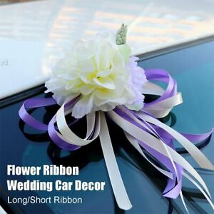 Wedding Car Silk Flower Door Handles Rearview Mirror Creative Decoration Kit UK