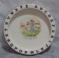 Antique Child's Plate  Little Boy Blue Alphabet
