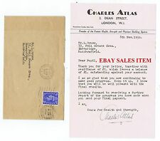 CHARLES ATLAS Historic Strength Physique Body Builder   Rare Signed Letter 1950