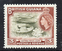 British Guiana 3 Cent c1954-63 Lightly Mounted Mint Stamp (2596)