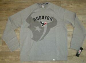 Houston Texans Red Zone Flex Blend Fabric Sweatshirt Size Men's 2XL