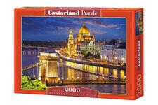 Castorland c-200405 puzzle Budapest view at Dusk coucher de soleil ville 2000 pièces