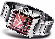 FIREFOX SEASEEKER FFS160 rot Herren Damen Armbanduhr Chronograph Faltschließe