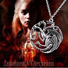 Hot Film Fashion New Punk Metal Targaryen Game of Thrones Pendant Necklace