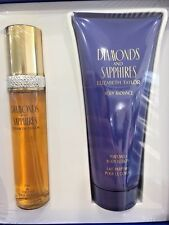 DIAMONDS AND SAPPHIRES 2 PIECE GIFT SET BY ELIZABETH TAYLOR