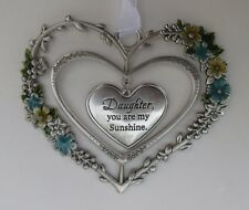 hhd Daughter you are my sunshine BLOOMING LOVELY 3d Heart Ornament ganz
