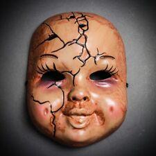 Scary Creepy Halloween Mask Masquerade Horror Baby Chucky Ghost Doll Mask