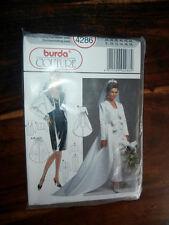 Oop Burda Couture 4286 retro Wedding Dress detachable over skirt size 8-18 NEW