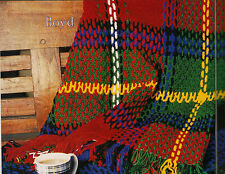 SCOTTISH TARTAN THROW RUG 'Boyd' AFGHAN CROCHET PATTERN in 8ply WOOL