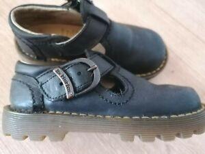 Enfant Boy Girl Dr Marten Made In England Black Leather Sandals Shoes Size 7