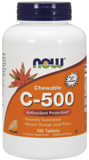 NOW FOODS Vitamin C-500 100 Chewables Orange FREE WORLDWIDE SHIPPING
