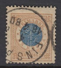 SWEDEN: 1877 1 k blue and bistre perf 13  SG 27 used
