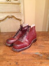 WWII 1940s G H Bass Wilton Shoe Co. Boots Cross Country Ski Boots Mens 9 D RARE