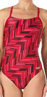Speedo Women's Swimwear Red Size 26 One Piece Endurance+ Swimsuit $84 #112