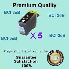 5 X Compatible Canon BCI-3ebk Black ink for pixma ip3000 MP700 MP730 i560