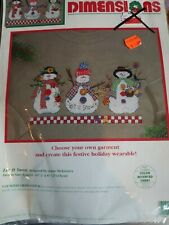 Dimensions Holiday Christmas Counted Cross stitch kits Wearable Snowmen NEW Sewc